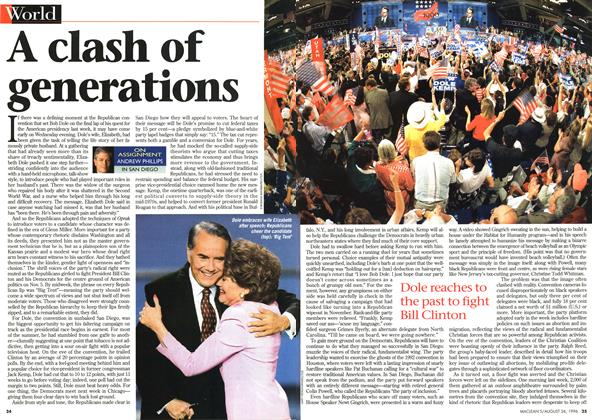 Article Preview: A clash of generations, August 1996 | Maclean's