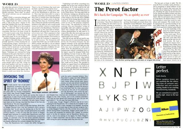 Article Preview: The Perot factor, August 1996 | Maclean's