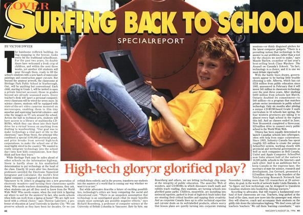 Article Preview: SURFING BACK TO SCHOOL, August 1996 | Maclean's
