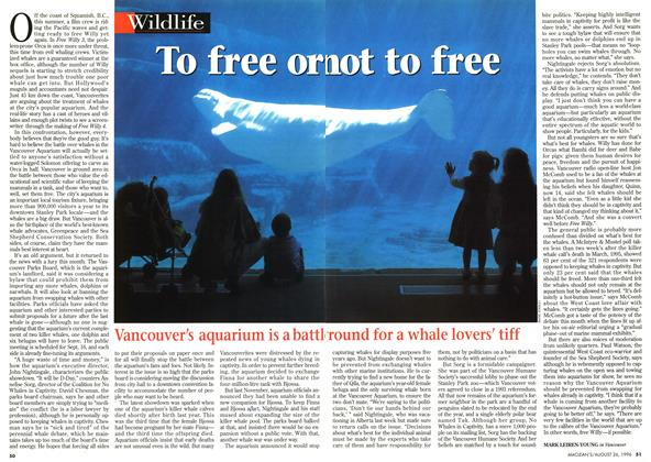 Article Preview: To free or not to free, August 1996 | Maclean's