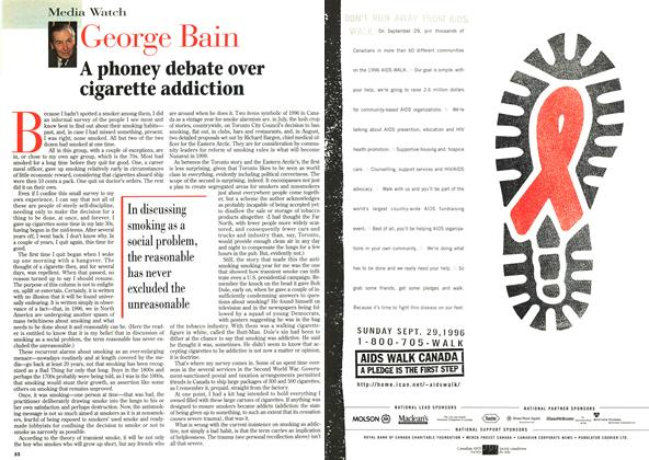 Article Preview: A phoney debate over dgarette addiction, August 1996 | Maclean's