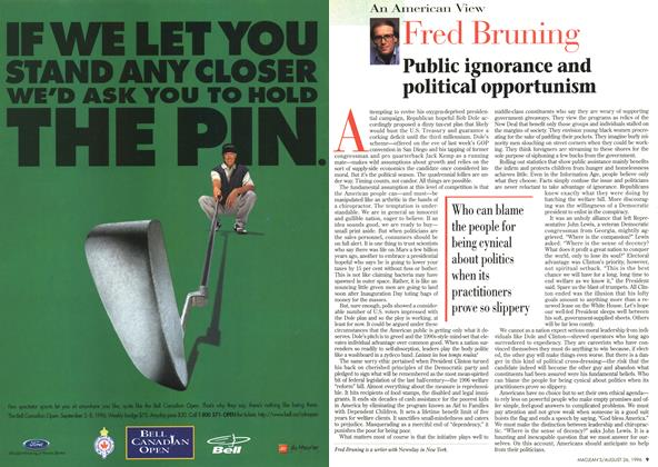 Article Preview: Fred Bruning, August 1996 | Maclean's