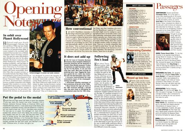 Article Preview: Opening Notes, August 1996 | Maclean's