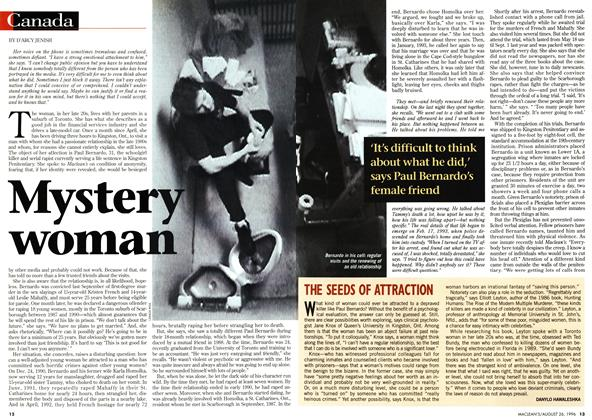 Article Preview: Mystery woman, August 1996 | Maclean's