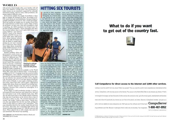 Article Preview: HITTING SEX TOURISTS, September 1996 | Maclean's