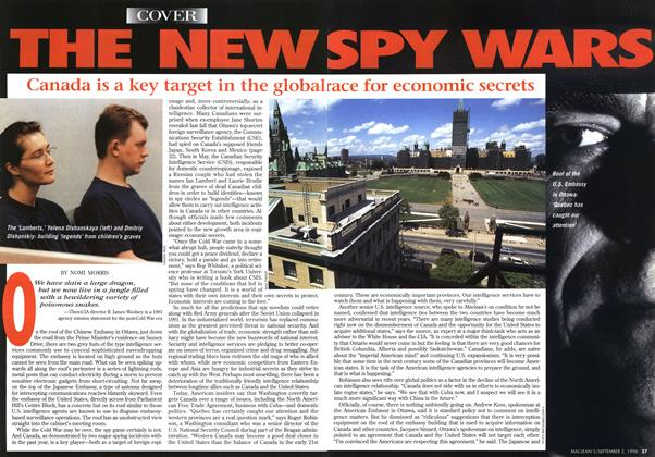 Article Preview: THE NEW SPY WARS, September 1996 | Maclean's