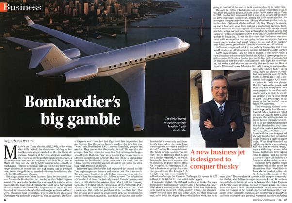Article Preview: Bombardier's big gamble, September 1996 | Maclean's
