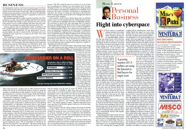 Article Preview: Flight into cyberspace, September 1996 | Maclean's