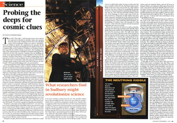 Article Preview: Probing the deeps for cosmic clues, September 1996 | Maclean's