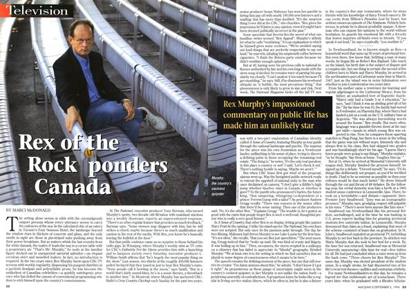 Article Preview: Rex of the Rock ponders Canada, September 1996 | Maclean's