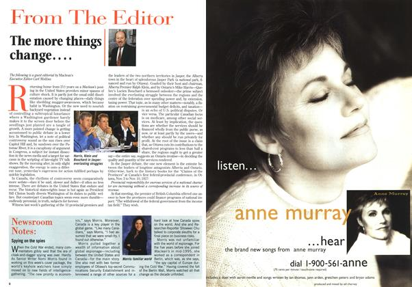 Article Preview: The more things change...., September 1996 | Maclean's