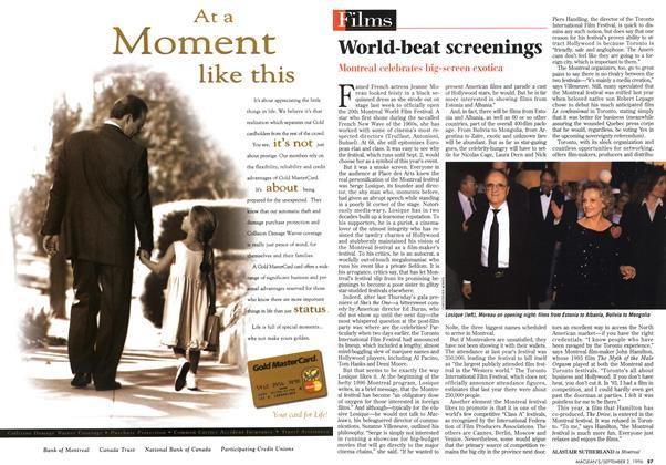 Article Preview: World-beat screenings, September 1996 | Maclean's
