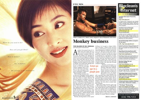 Article Preview: Monkey business, September 1996 | Maclean's