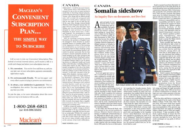 Article Preview: Somalia sideshow, September 1996 | Maclean's
