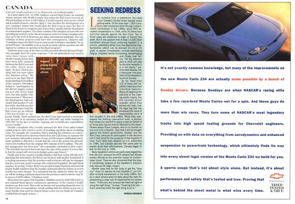 Article Preview: SEEKING REDRESS, September 1996 | Maclean's