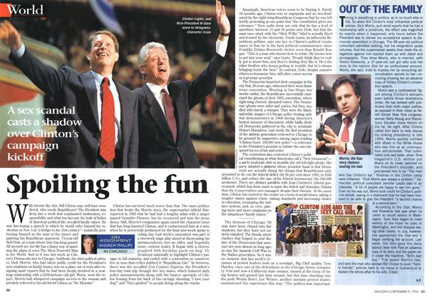 Article Preview: Spoiling the fun, September 1996 | Maclean's