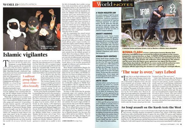 Article Preview: Islamic vigilantes, September 1996 | Maclean's