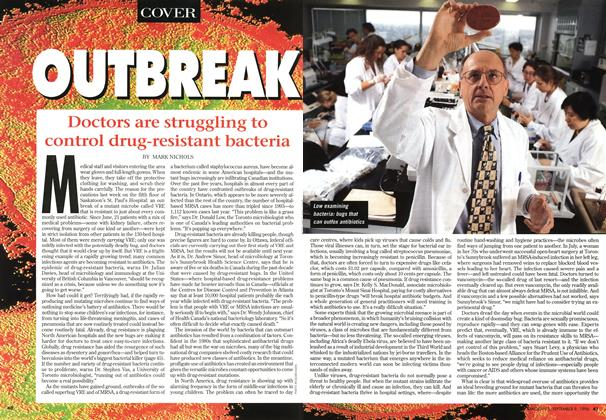 Article Preview: Doctors are struggling to control drug-resistant bacteria, September 1996 | Maclean's