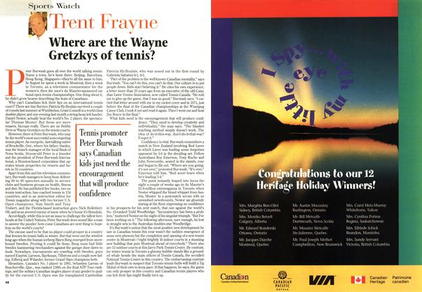 Article Preview: Where are the Wayne Gretzkys of tennis?, September 1996 | Maclean's