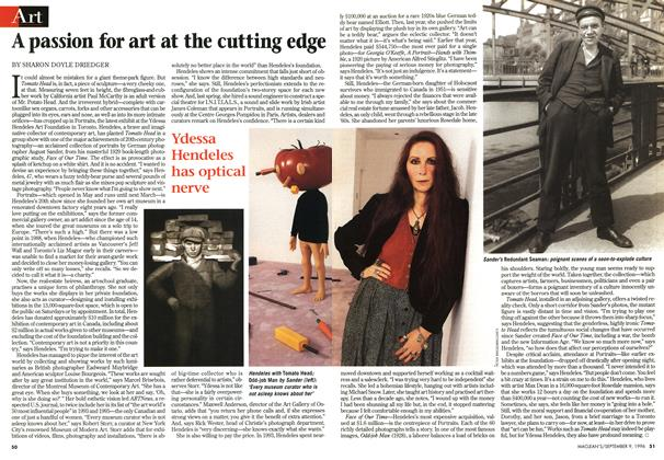 Article Preview: A passion for art at the cutting edge, September 1996 | Maclean's