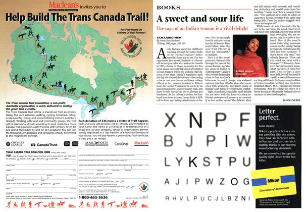 Article Preview: A sweet and sour life, September 1996 | Maclean's