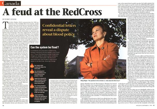 Article Preview: A feud at the Red Cross, September 1996 | Maclean's