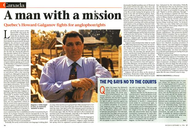 Article Preview: A man with a mission, September 1996 | Maclean's