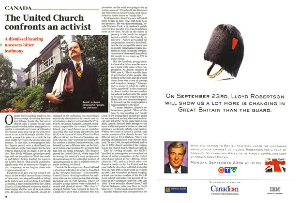Article Preview: The United Church confronts an activist, September 1996 | Maclean's