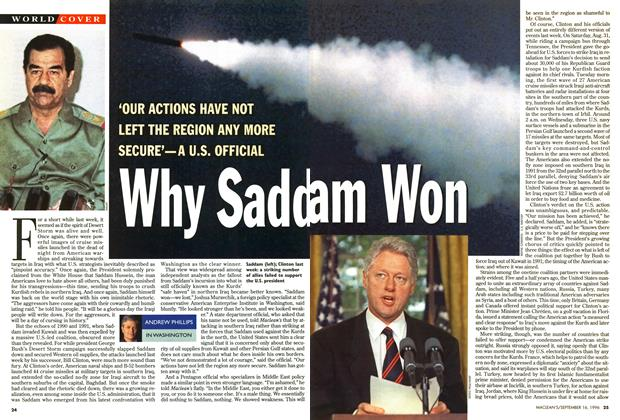 Article Preview: Why Saddam Won, September 1996 | Maclean's