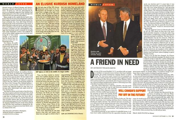 Article Preview: A FRIEND IN NEED, September 1996 | Maclean's