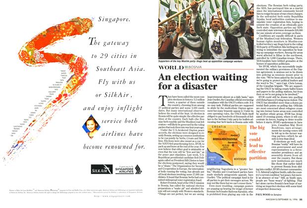 Article Preview: An election waiting for a disaster, September 1996 | Maclean's