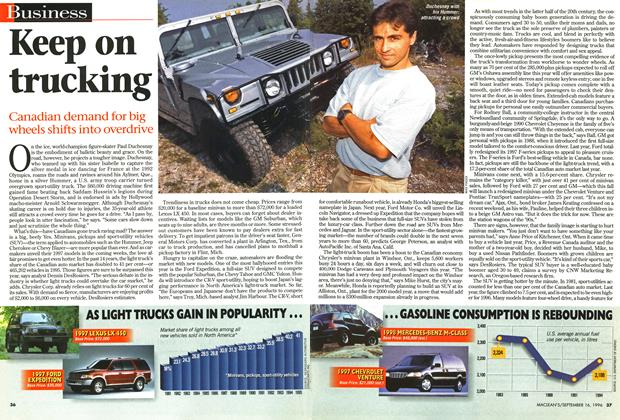 Article Preview: Keep on trucking, September 1996 | Maclean's