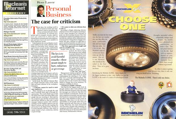 Article Preview: The case for criticism, September 1996 | Maclean's
