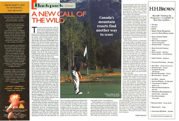 Article Preview: A NEW CALL OF THE WILD, September 1996 | Maclean's