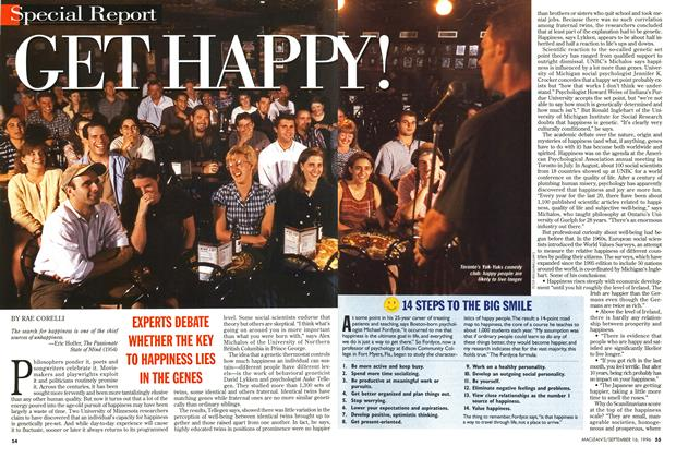 Article Preview: GET HAPPY!, September 1996 | Maclean's