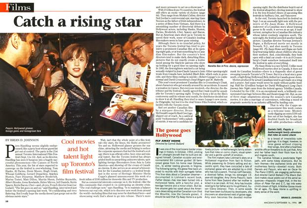 Article Preview: Catch a rising star, September 1996 | Maclean's