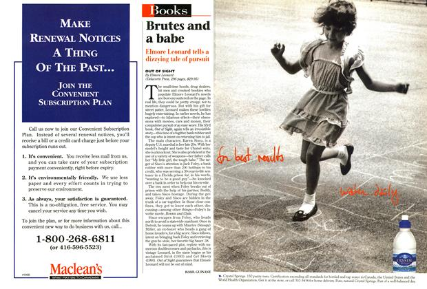 Article Preview: Brutes and a babe, September 1996   Maclean's