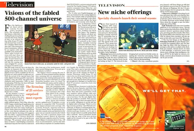 Article Preview: Visions of the fabled 500-channel universe, September 1996 | Maclean's
