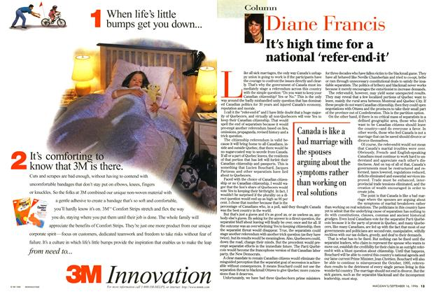 Article Preview: It's high time for a national 'refer-end-it', September 1996 | Maclean's