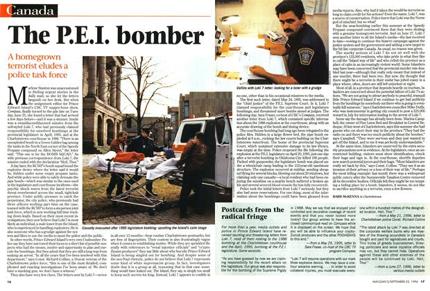 Article Preview: The P.E.I. bomber, September 1996 | Maclean's