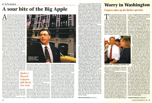 Article Preview: A sour bite of the Big Apple, September 1996 | Maclean's