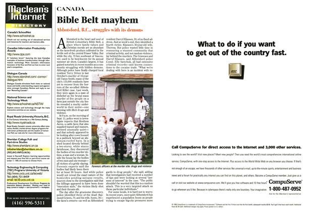 Article Preview: Bible Belt mayhem, September 1996 | Maclean's