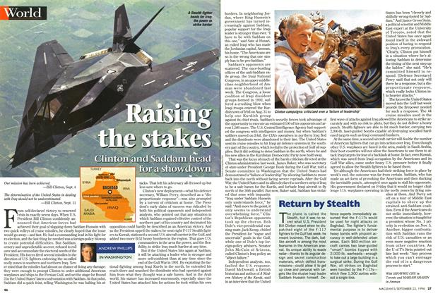 Article Preview: Raising the stakes, September 1996 | Maclean's