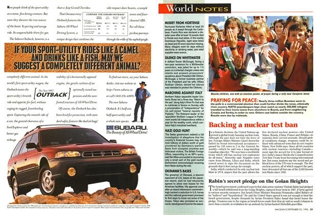 Article Preview: World NOTES, September 1996 | Maclean's