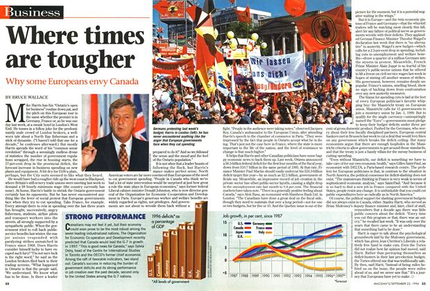 Article Preview: Where times are tougher, September 1996 | Maclean's