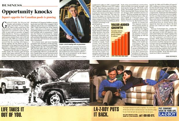 Article Preview: Opportunity knocks, September 1996 | Maclean's