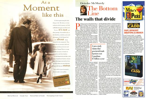 Article Preview: The walls that divide, September 1996 | Maclean's