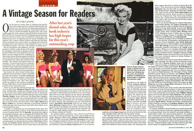 Article Preview: A Vintage Season for Readers, September 1996 | Maclean's