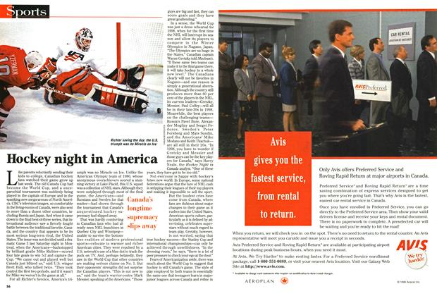 Article Preview: Hockey night in America, September 1996 | Maclean's