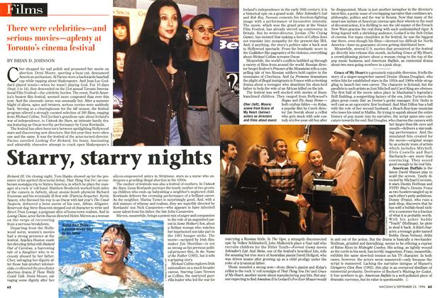 Article Preview: Starry, starry nights, September 1996 | Maclean's